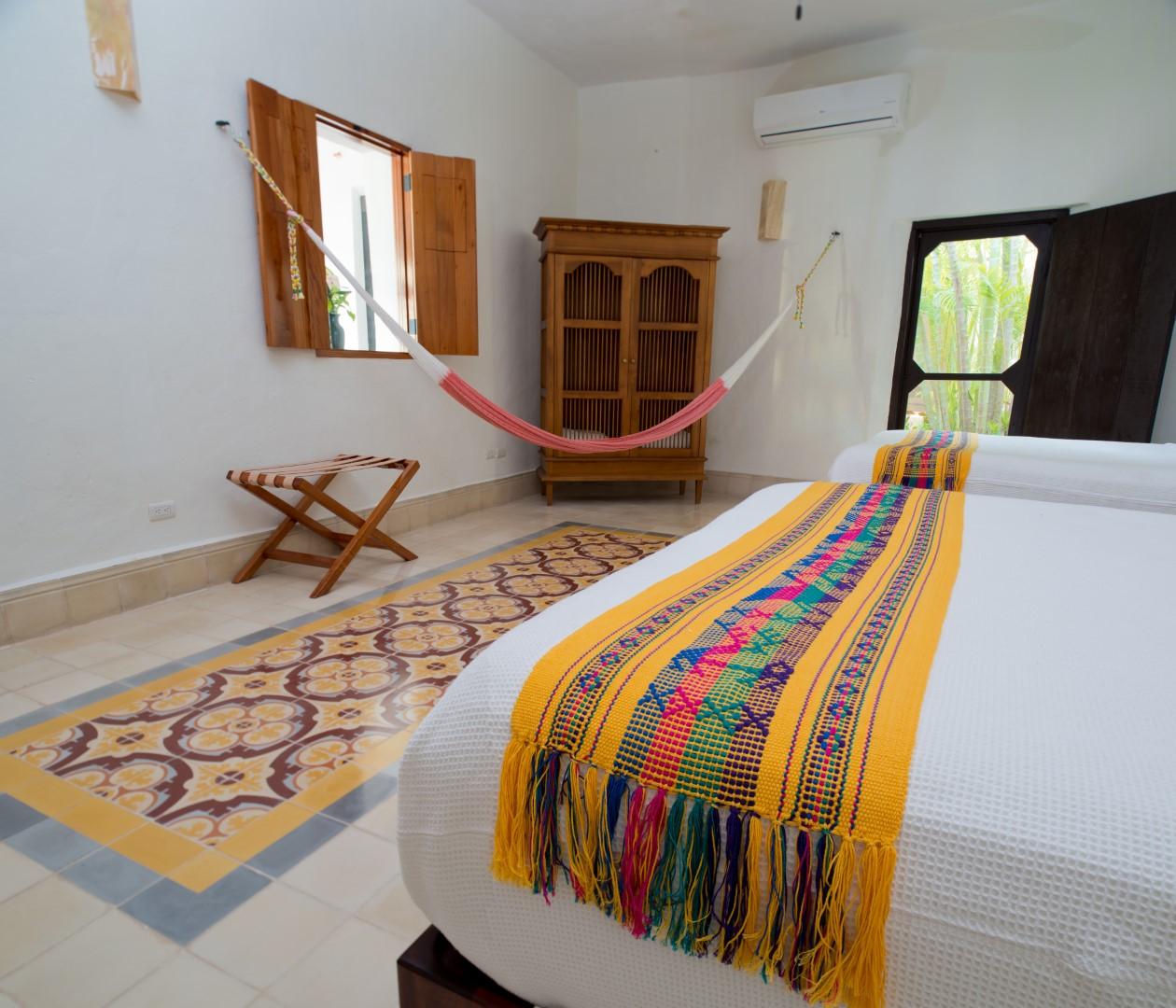 Double bedroom at Posada San Juan Valladolid
