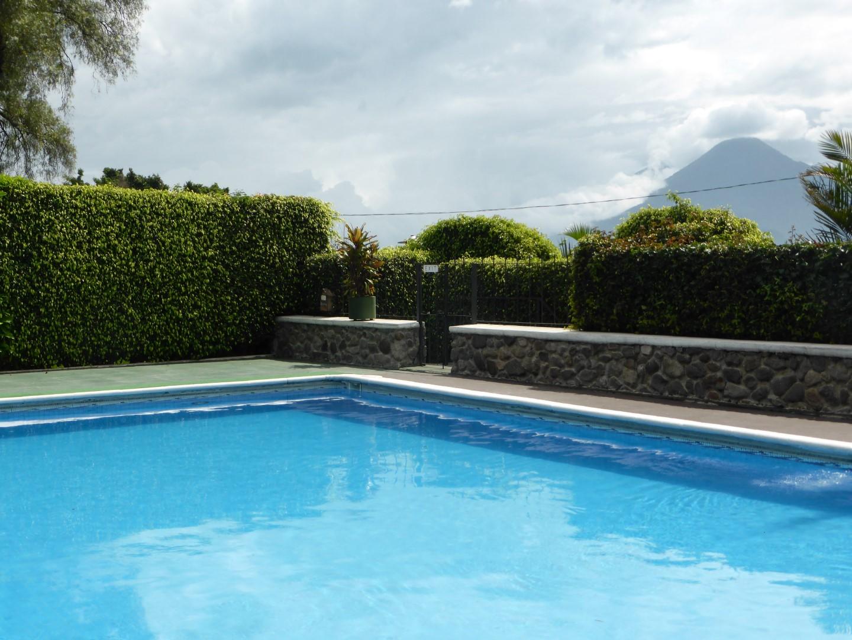 Pool at Posada Don Rodrigo, Lake Atitlan