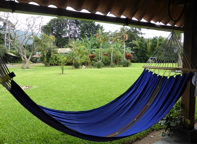 A hammock in the garden at Posada de don Rodrigo