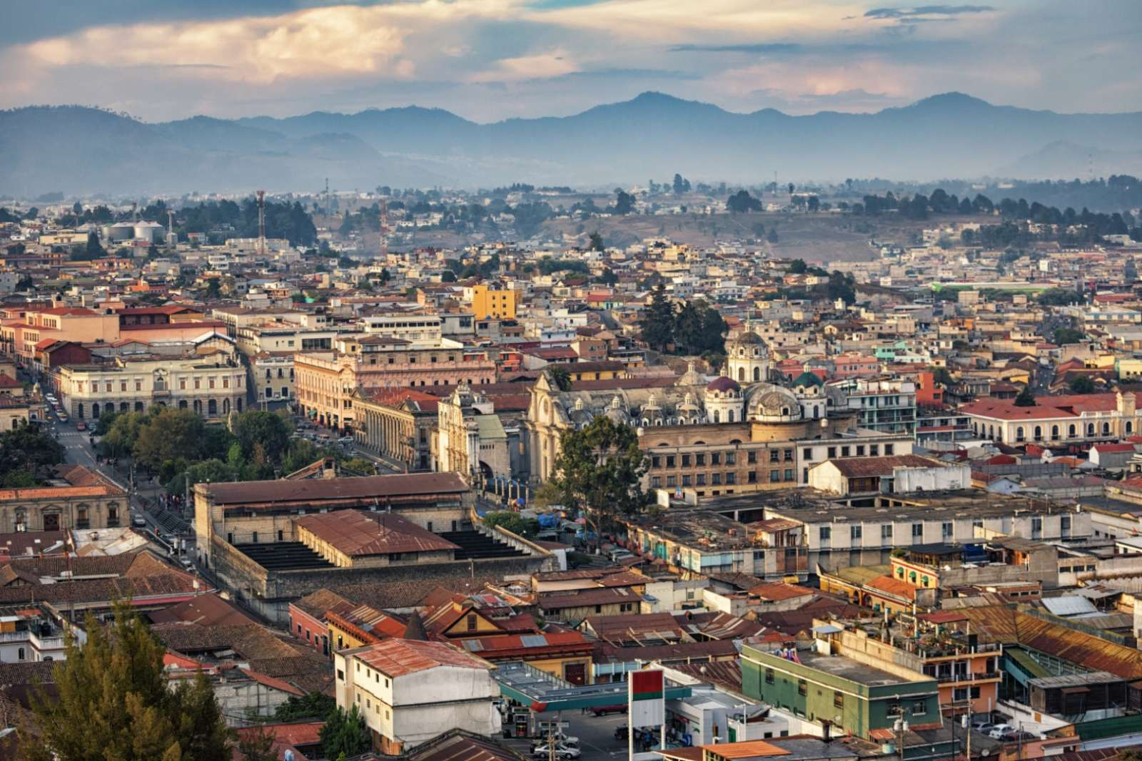 Aerial view of Quetzaltenango, Guatemala