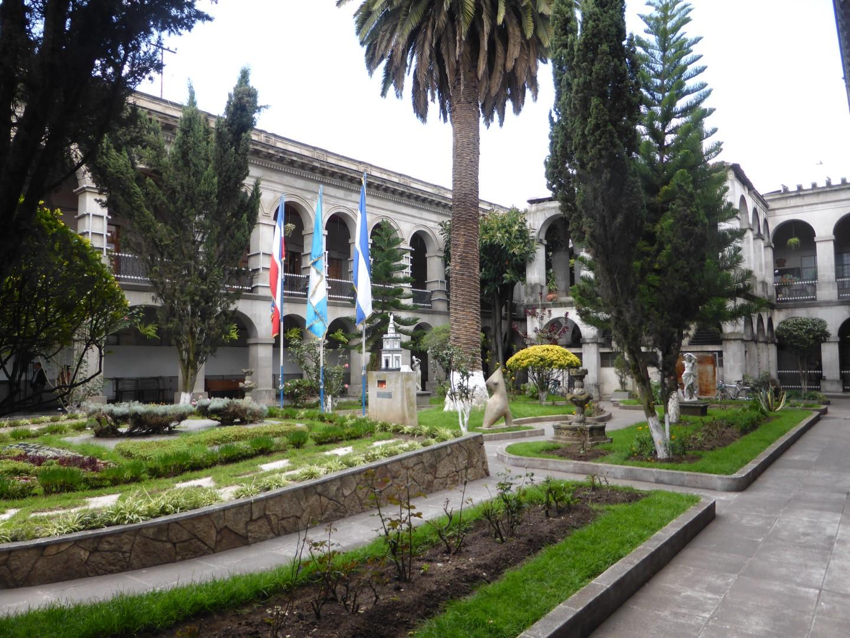 Courtyard in Quetzaltenango, Guatemala