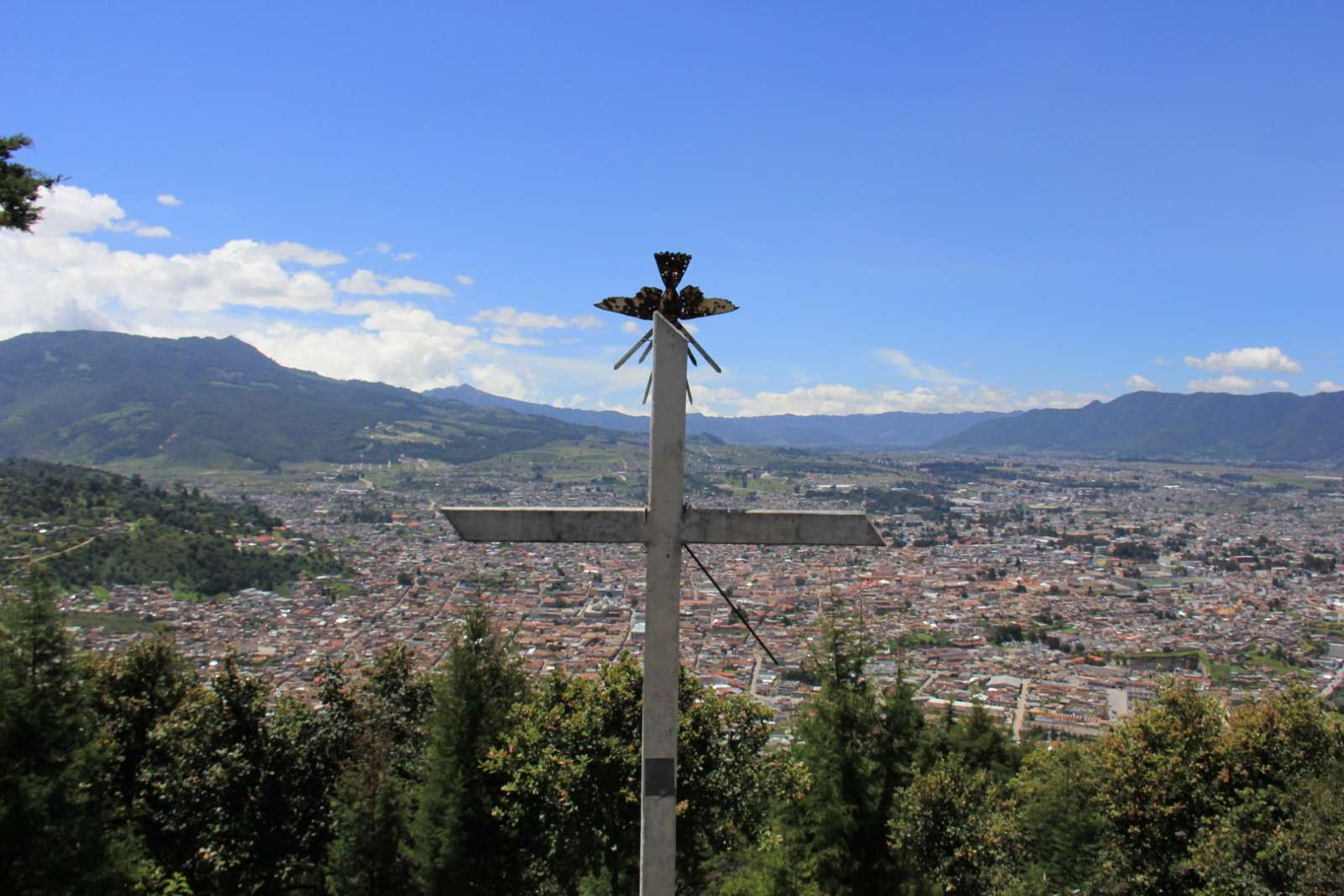 Cross overlooking Quetzaltenango, Guatemala