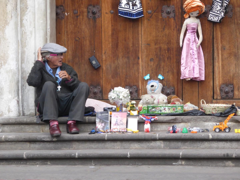Street vendor in Quetzaltenango, Guatemala