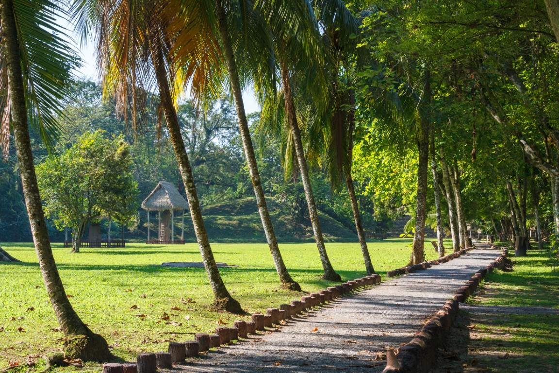 Pathway at the UNESCO Quirigua ruins