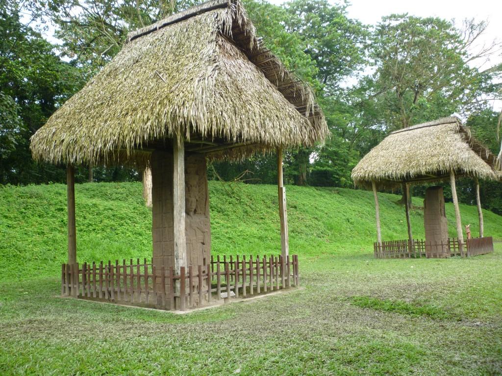 Stelae at Quirigua in Guatemala
