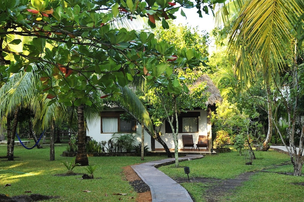 Garden bungalow at Rancho Encantado Bacalar