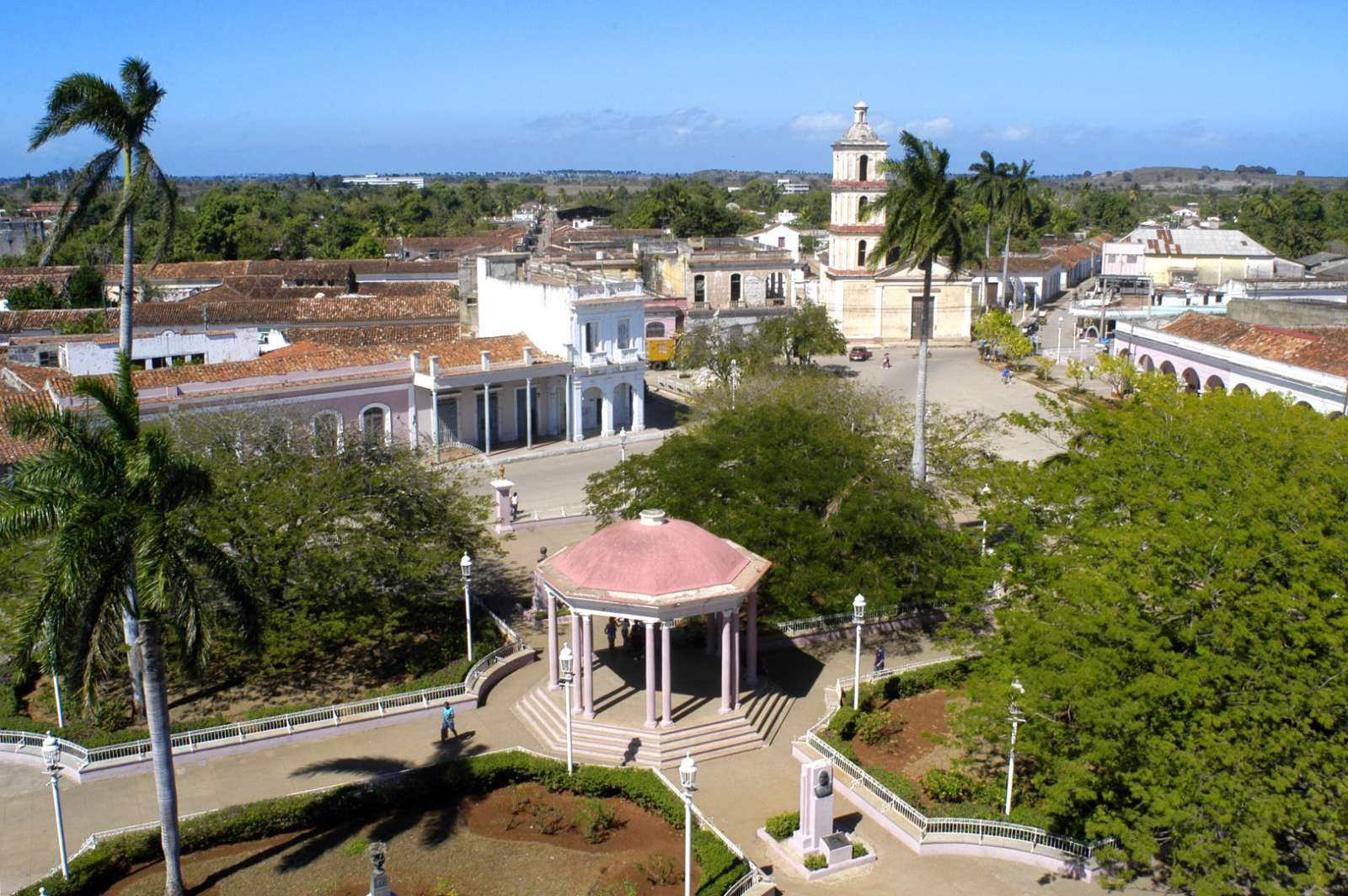 Aerial view of Remedios in Cuba