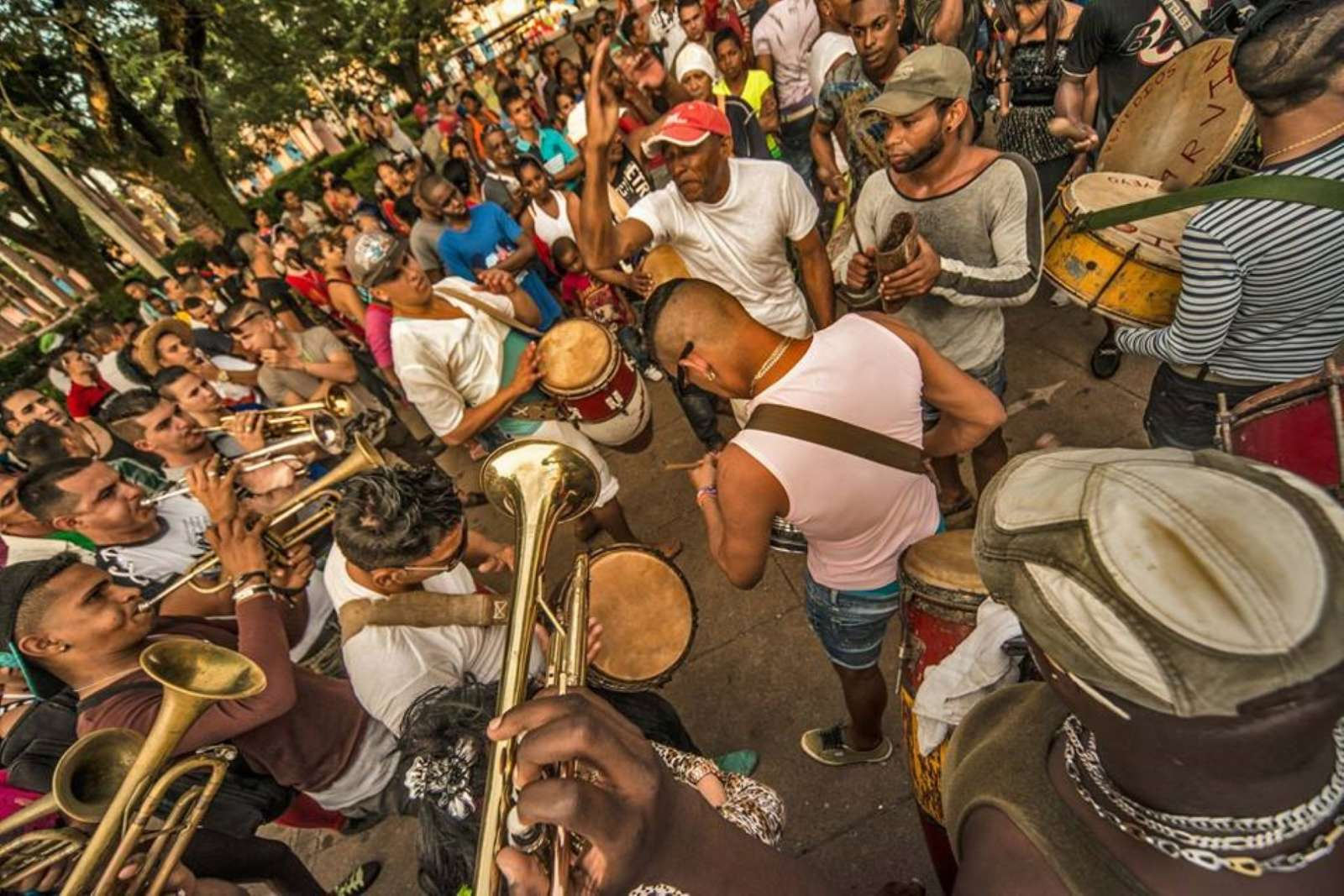 A band at Las Parrandas in Remedios, Cuba