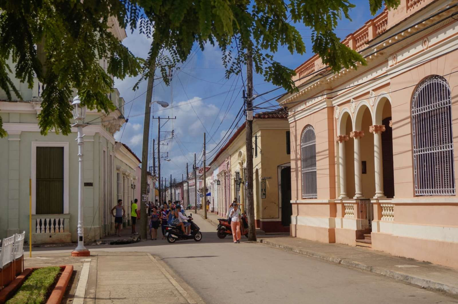 A typical street in Remedios, Cuba