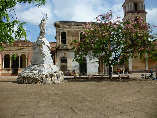 The main square in Remedios, Cuba