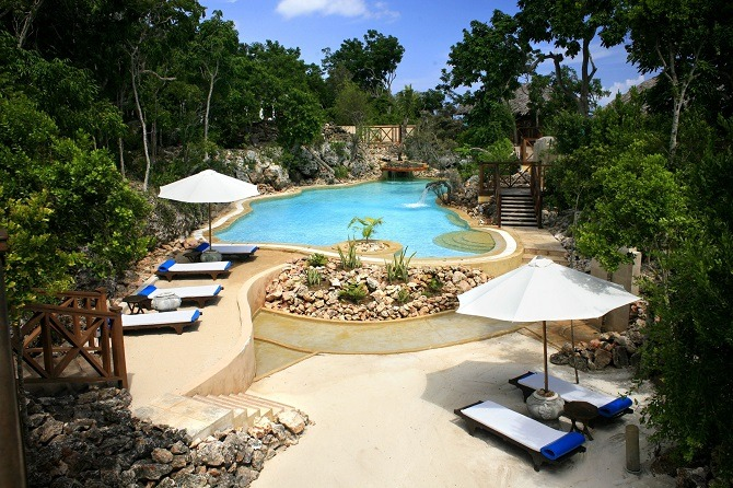 The swimming pool at the Paradisus Rio de Oro in Guardalavaca