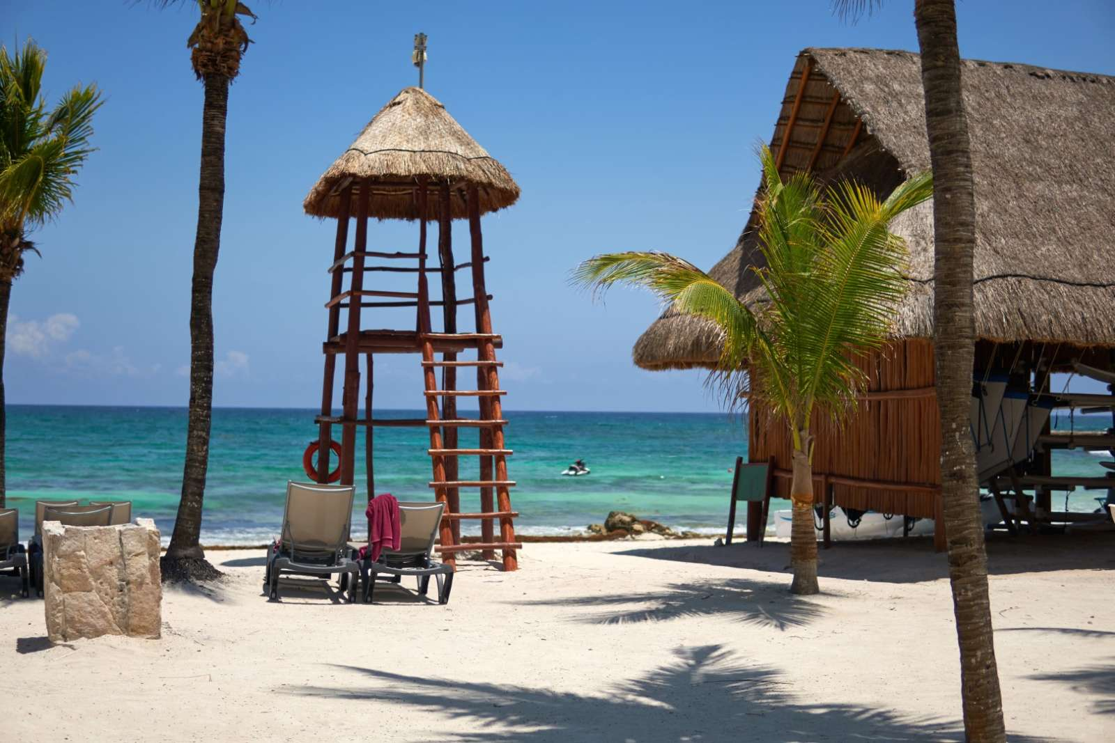 Lifeguard tower at Riviera Maya Mexico