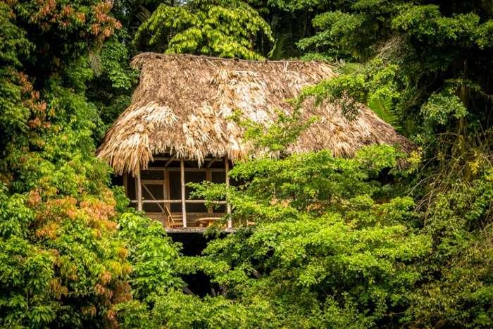 Chiminos Island Lodge is a rustic hideaway hotel in Guatemala