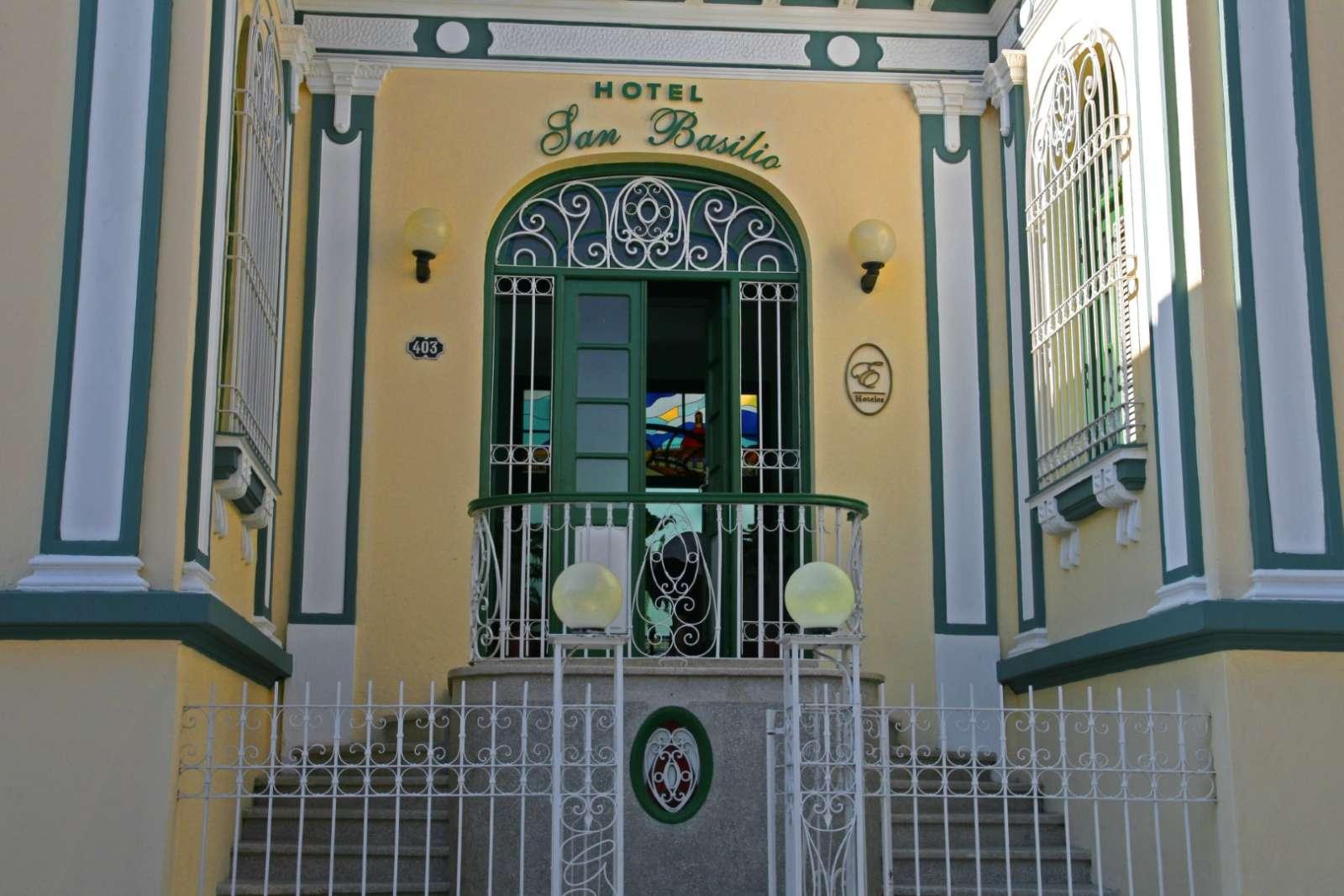 Entrance gate to Hotel San Basilio