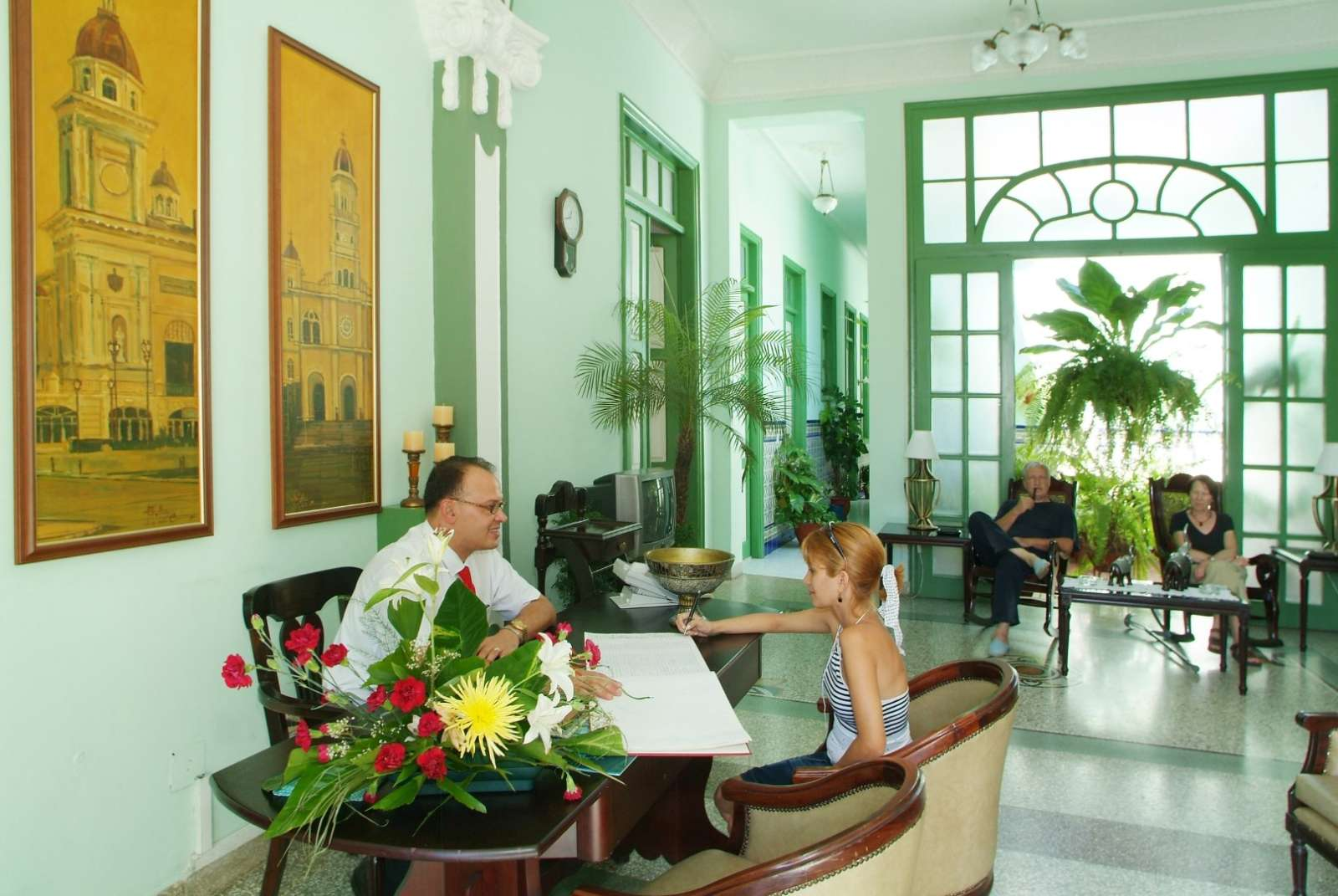 Reception at Hostal San Basilio