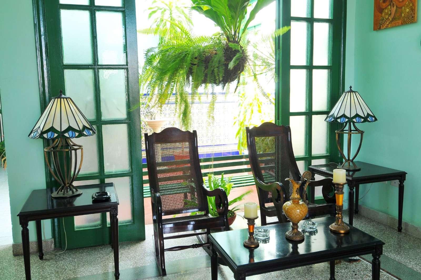 Rocking chairs at Hostal San Basilio