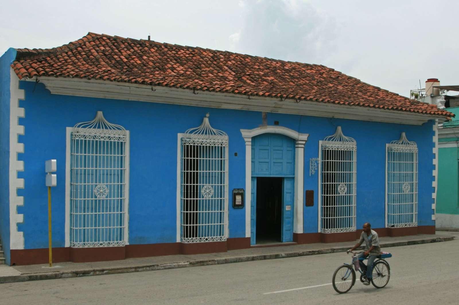 Sancti Spiritus Cuba Blue House