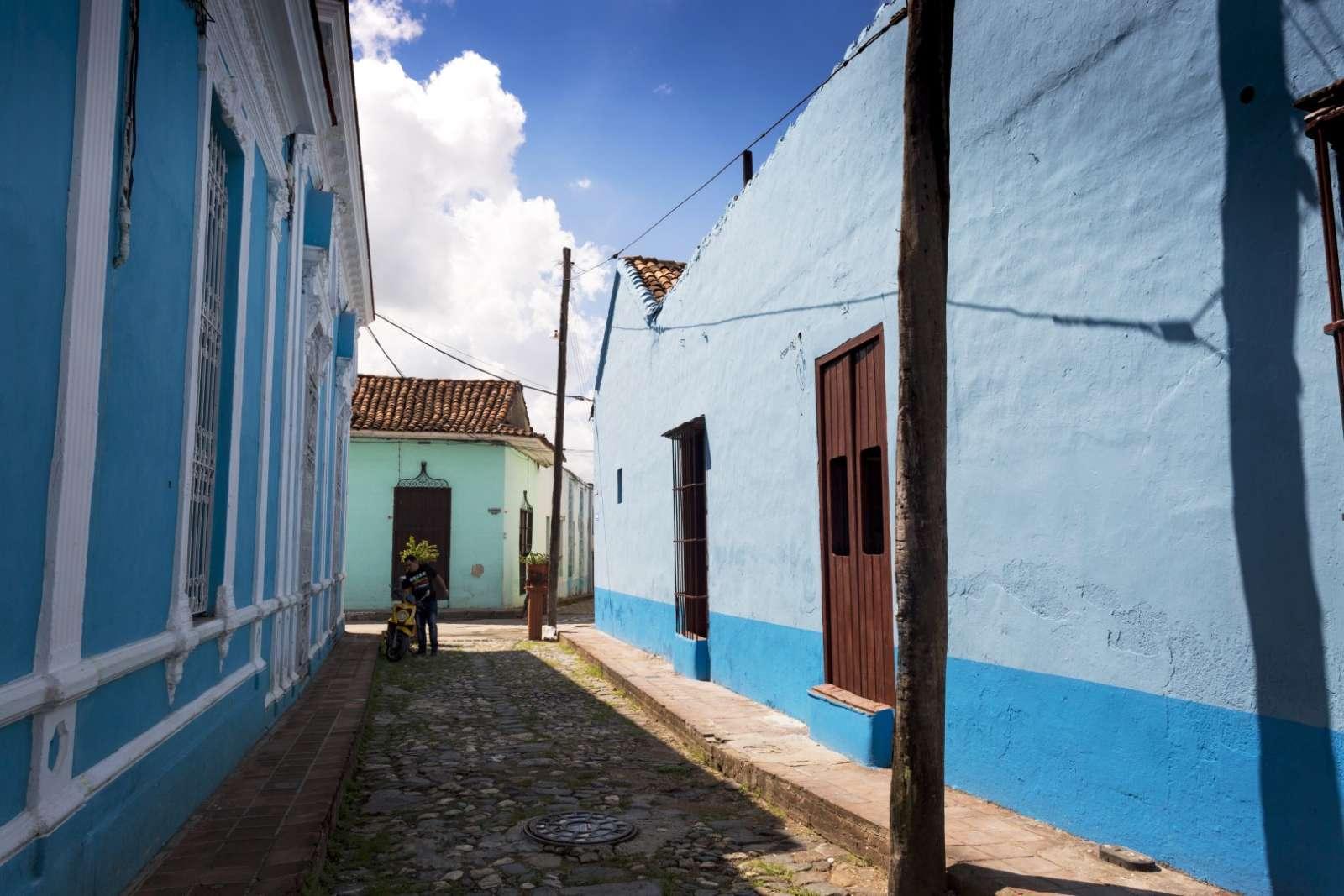 Quiet street in Sancti Spiritus, Cuba
