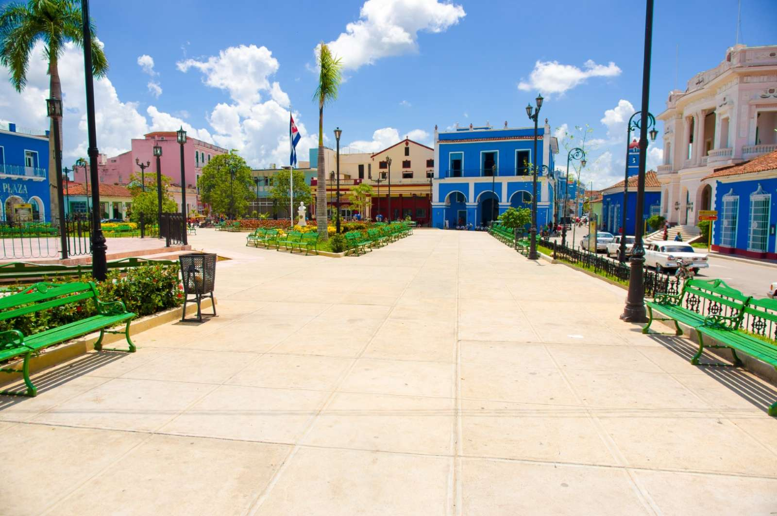 The main square in Sancti Spiritus, Cuba