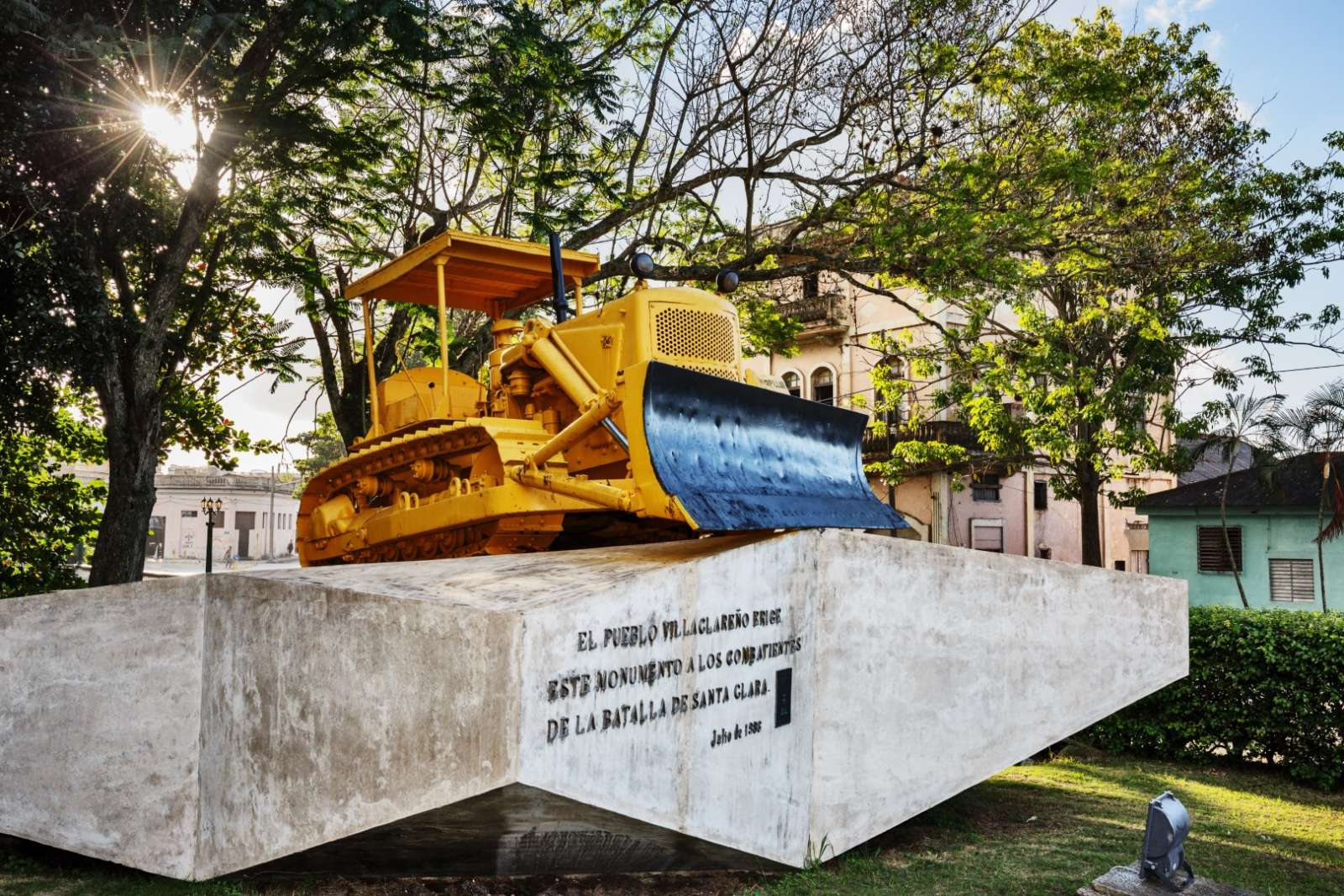 Bulldozer monument at Museum Tren Blindado, Santa Clara, Cuba