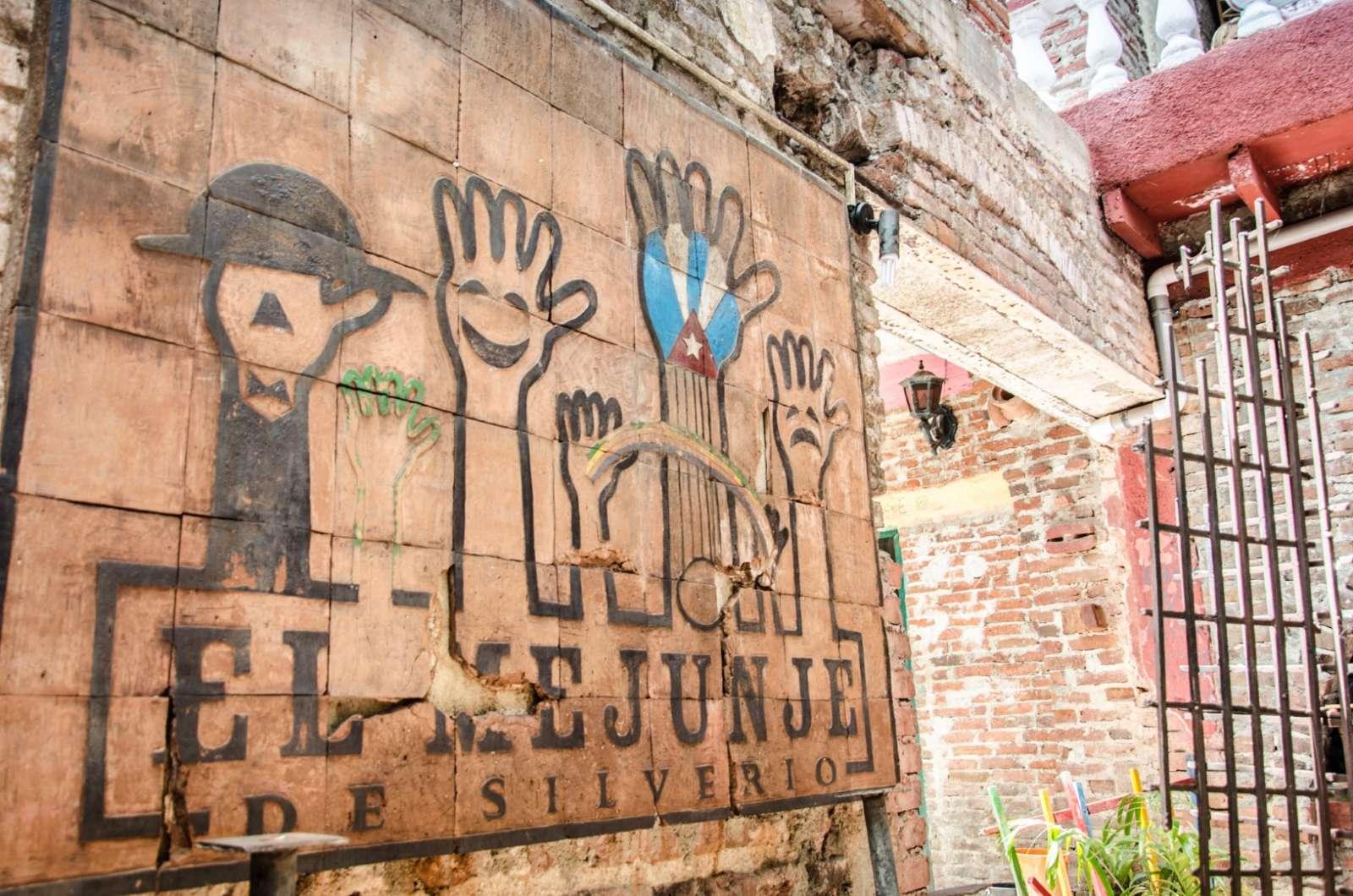A street mural in Santa Clara, Cuba