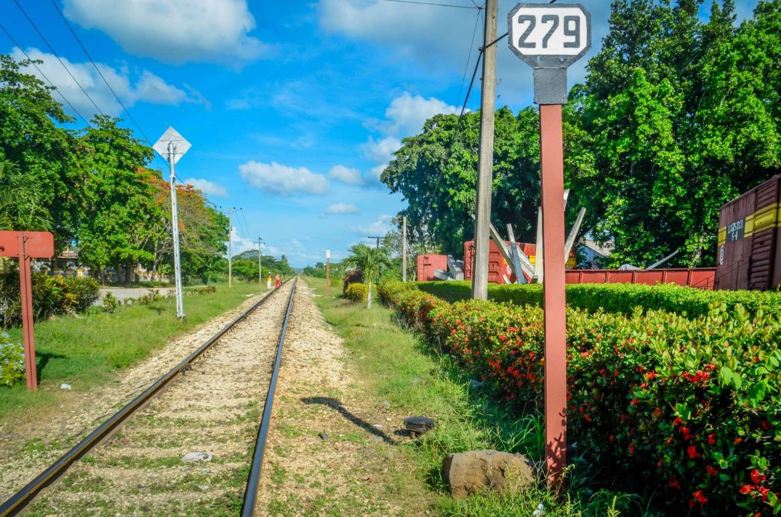 Railway track next to Tren Blindado, Santa Clara, Cuba