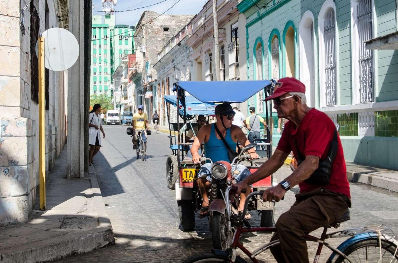 Santa Clara Cuba Rickshaw taxi