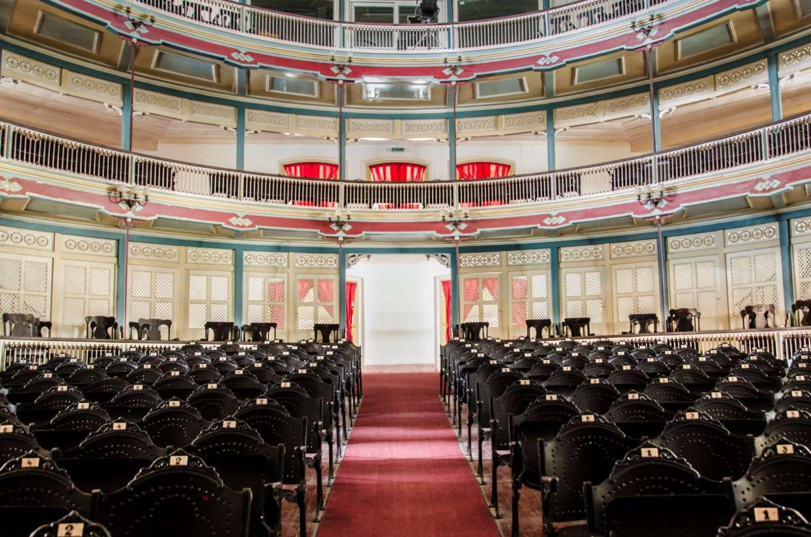 Interior of Teatro La Caridad in Santa Clara, Cuba