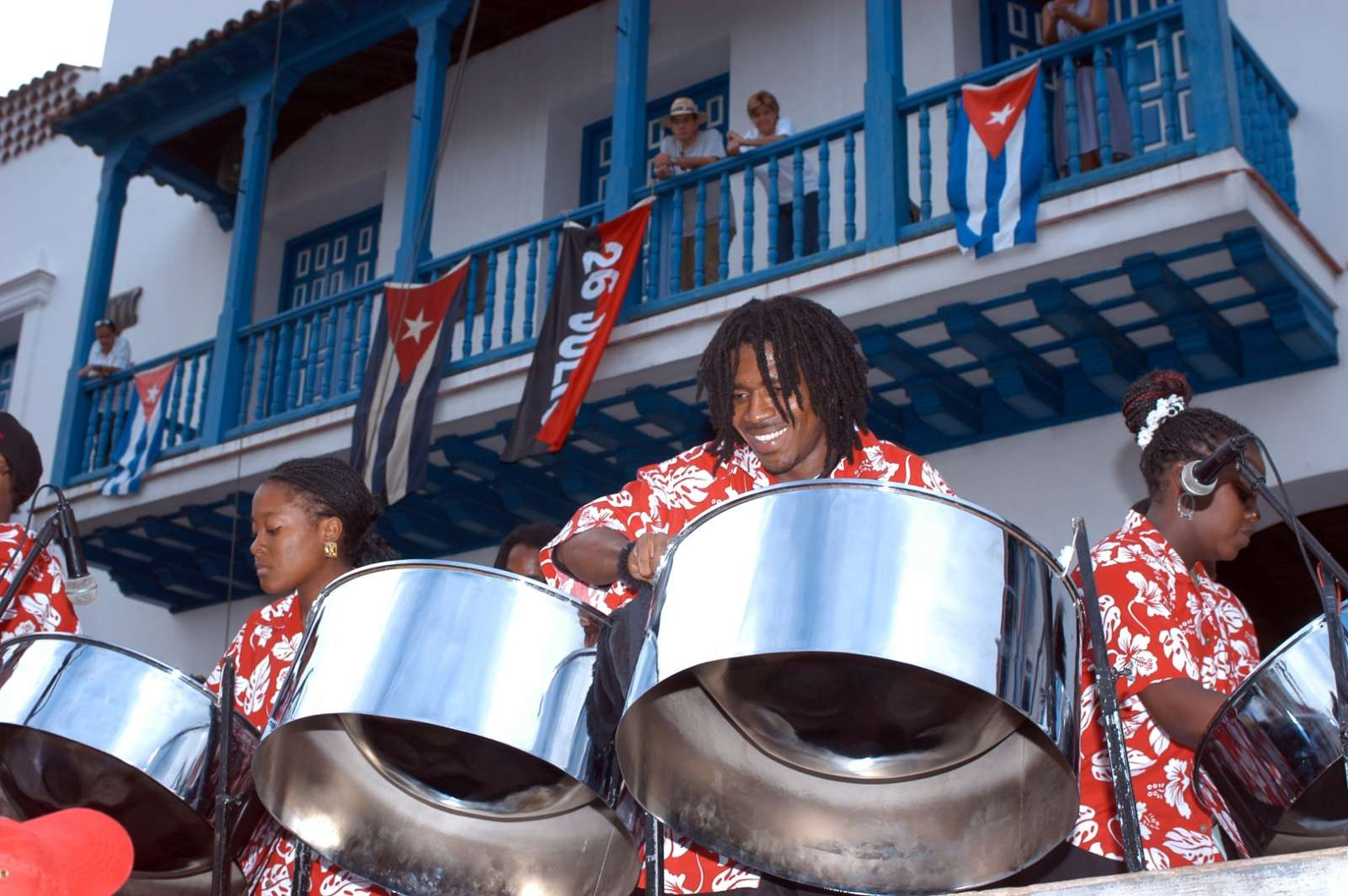 Steel band in Santiago de Cuba