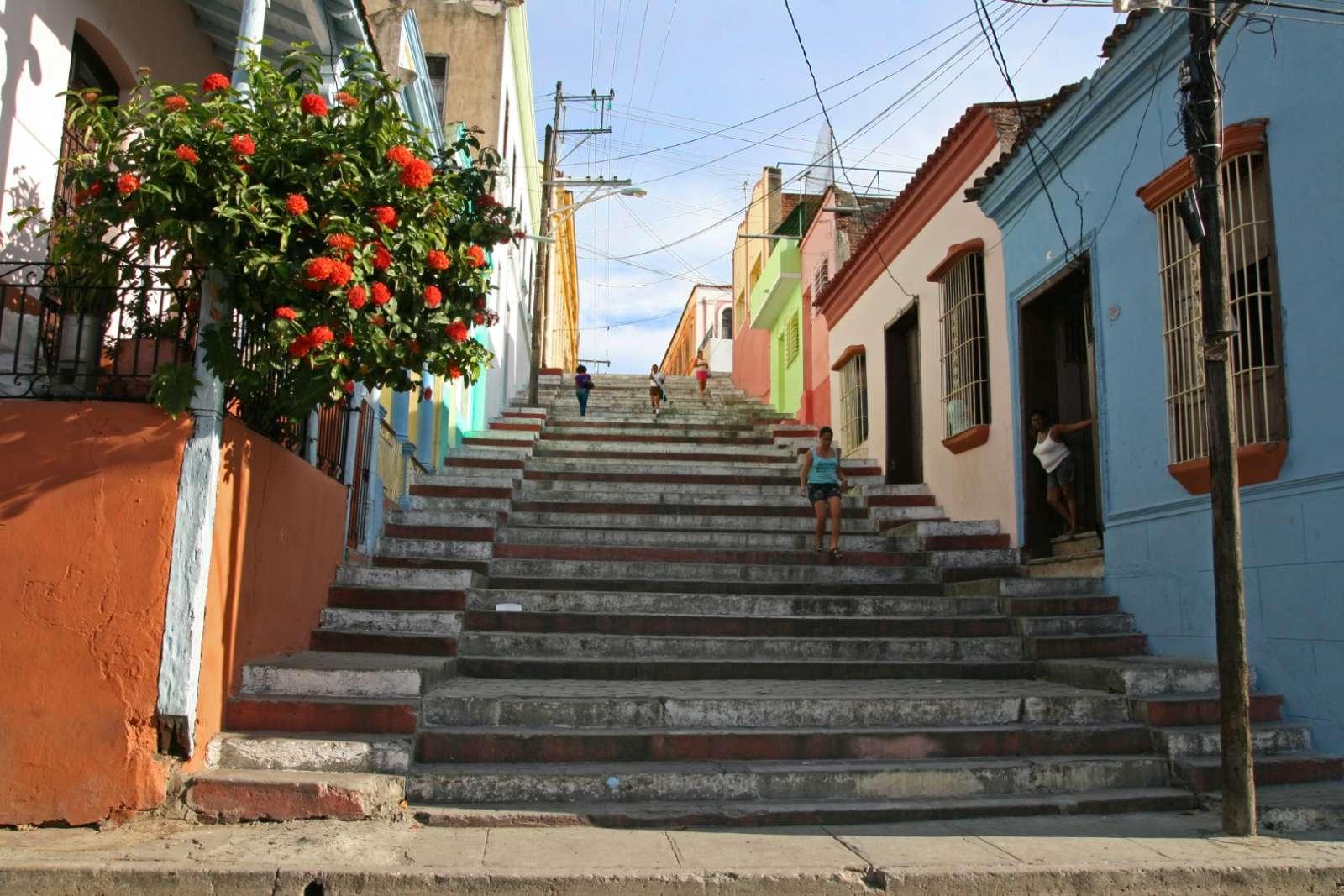 Spanish steps in Santiago de Cuba