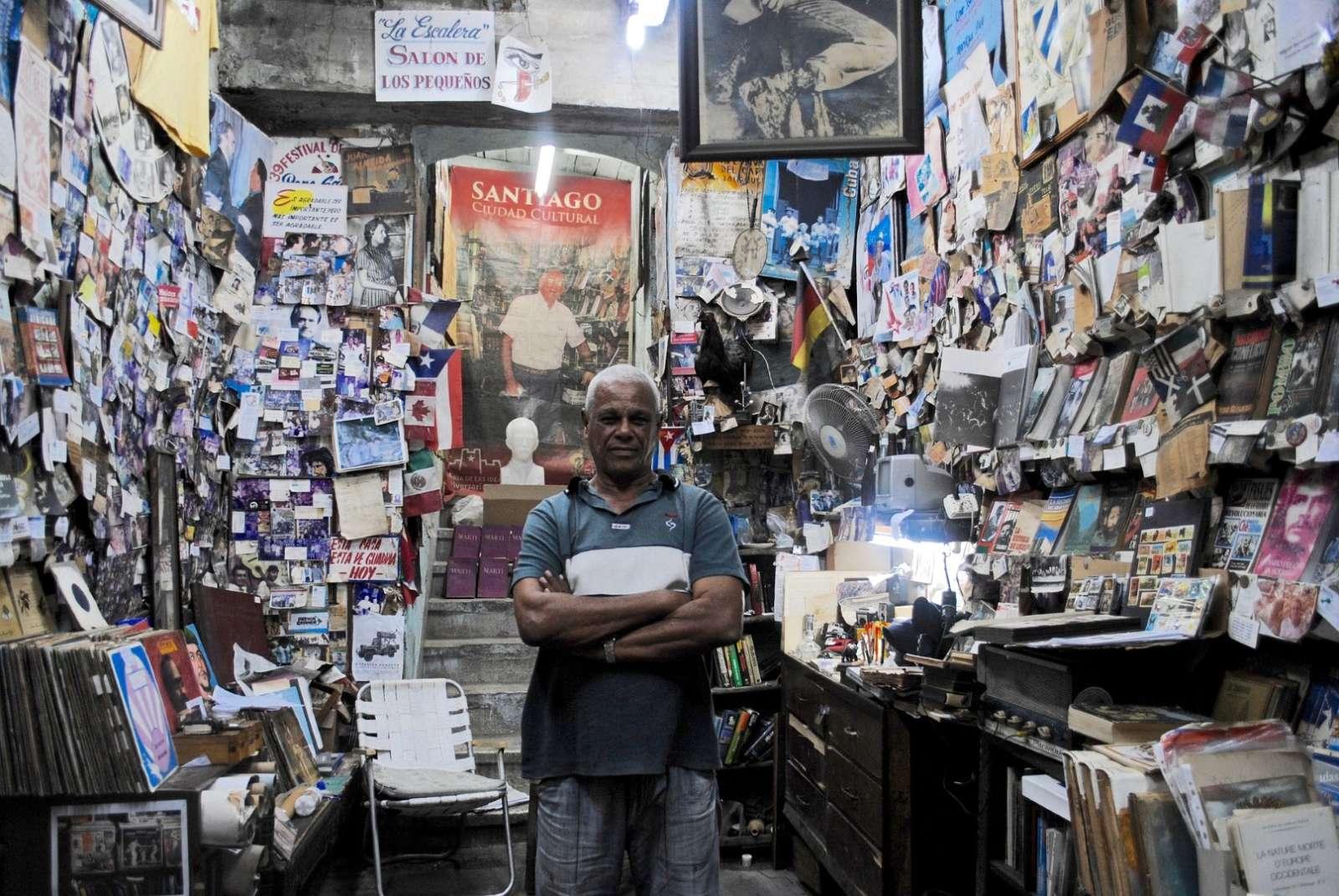 Man in shop, Santiago de Cuba