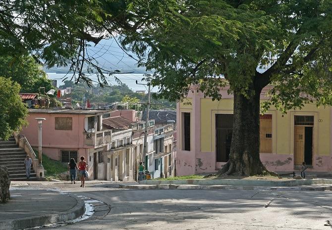 The city of Santiago de Cuba in eastern Cuba