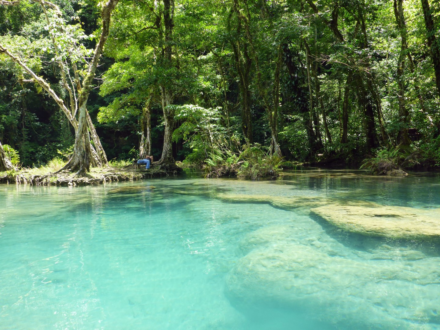 Clear pool at Semuc Champey in Guatemala