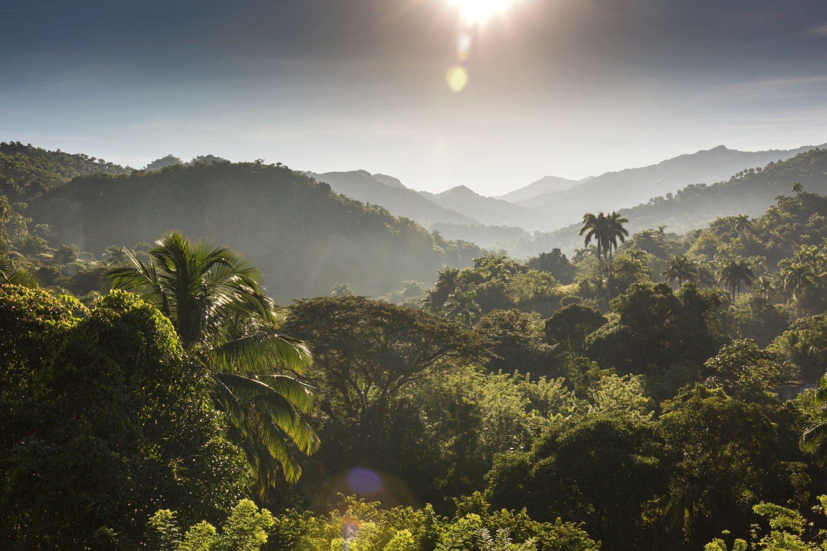 Panoramic view over the Sierra Maestra in Cuba