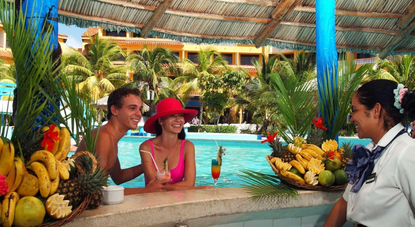 Swim up bar at Sol Rio De Luna Y Mares