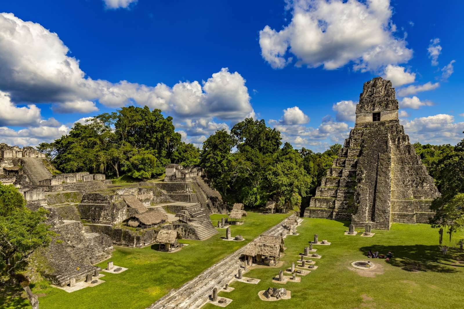 The Central Plaza at Tikal, Guatemala