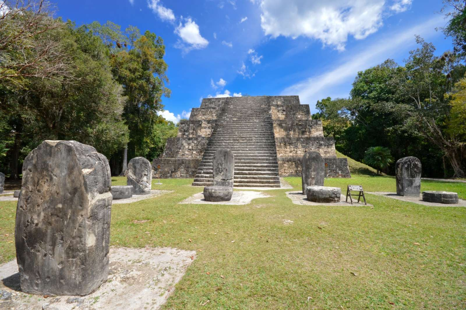 Pyramid and stelae at Tikal, Guatemala