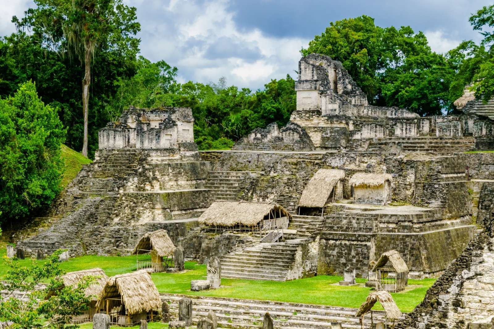 Large pyramid at Tikal, Guatemala