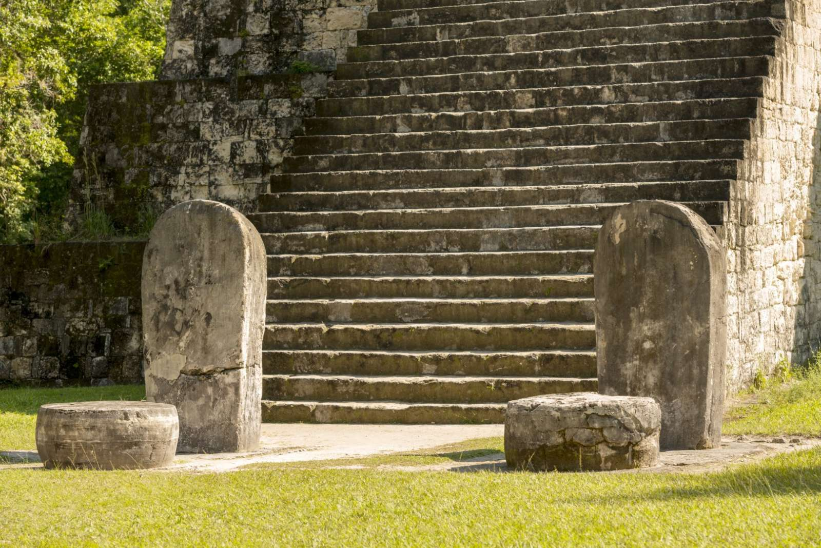 Steps and stelae at Tikal, Guatemala