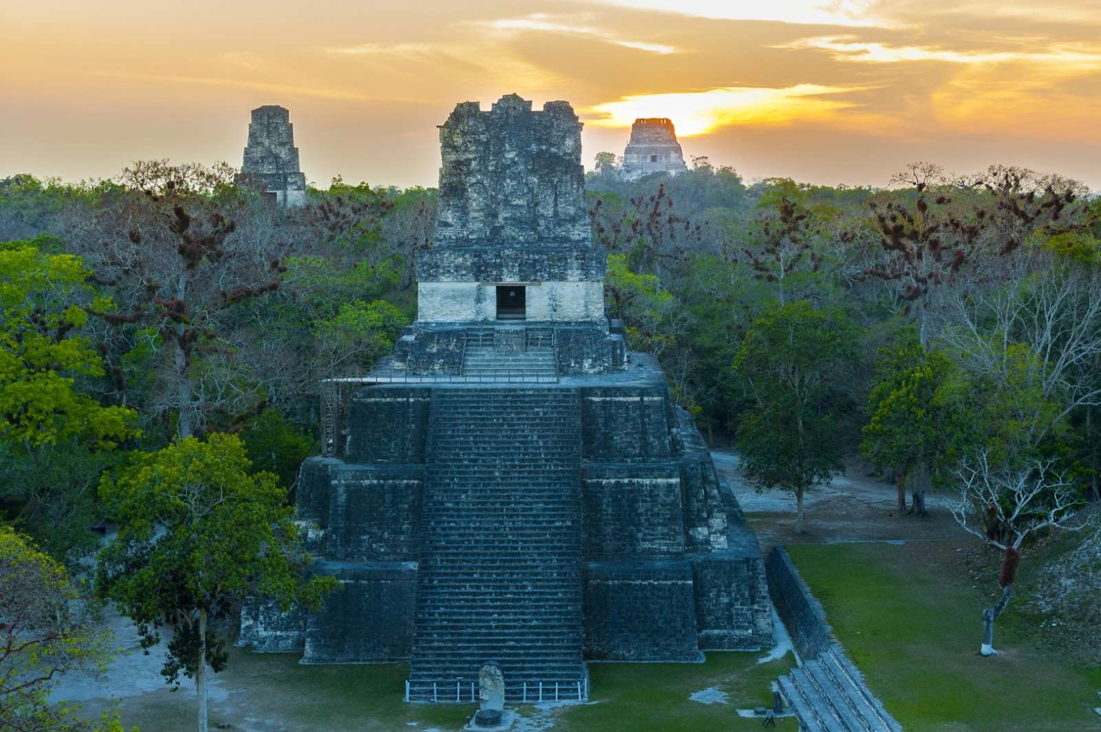 Pyramid of the Gran Jaguar in Tikal, Guatemala