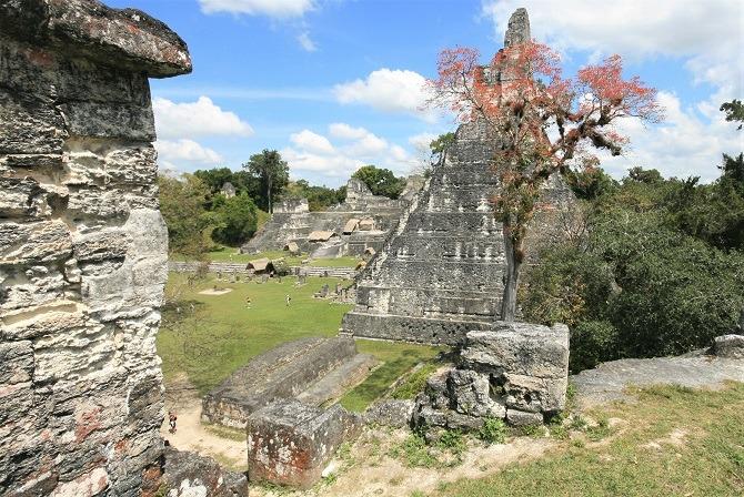 The ruins of Tikal in Guatemala