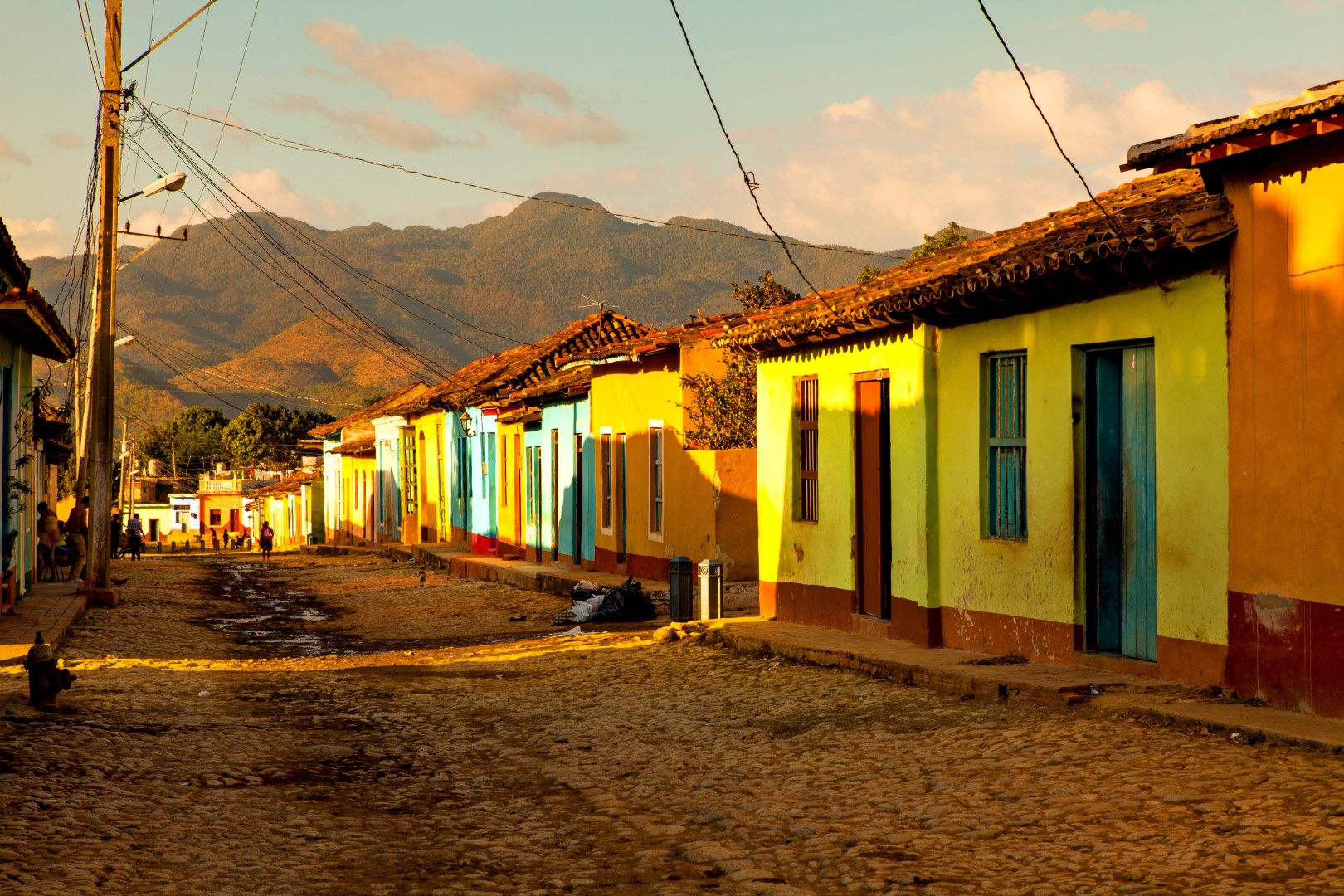 Colourful street scene in Trinidad, Cuba
