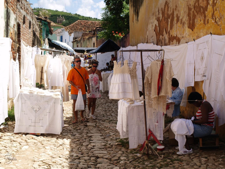 Lace market in Trinidad, Cuba