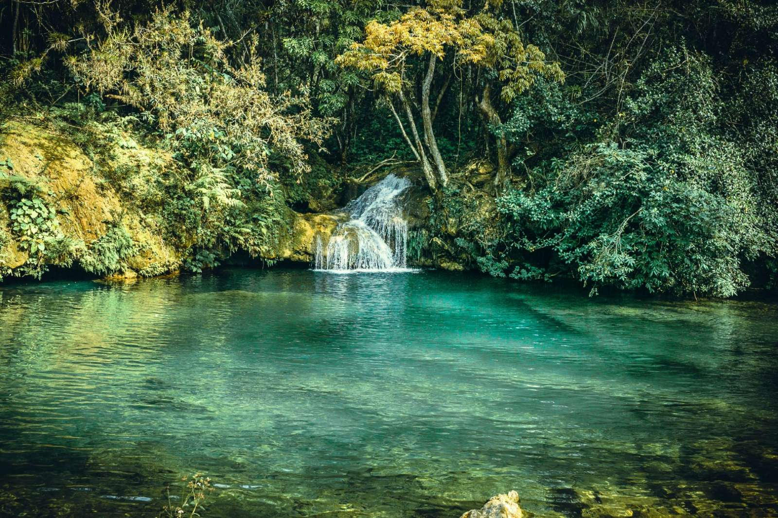 Waterfall In National Park near Trinidad, Cuba