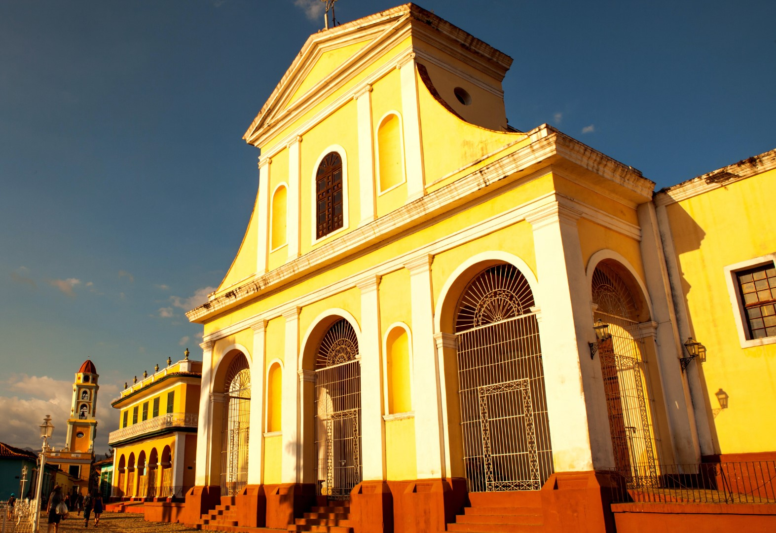 Church in centre of Trinidad, Cuba
