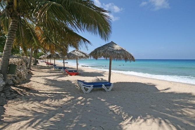 A beach near Trinidad in Cuba