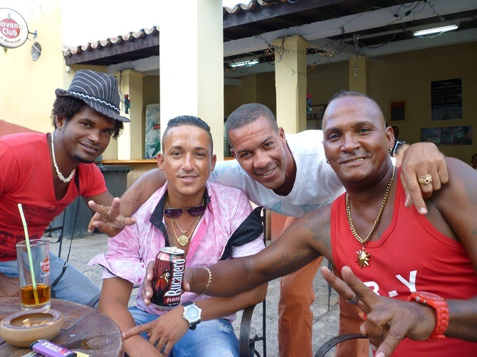 Four Cuban guys in Trinidad