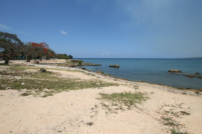 The beach at La Boca