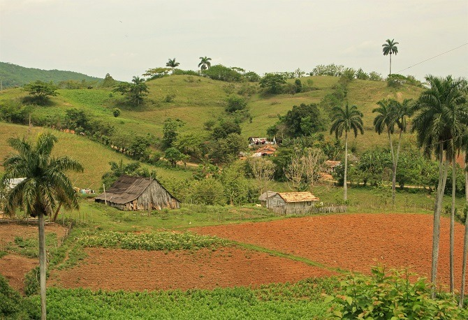 A typical Cuban village in the Escambray Mountains