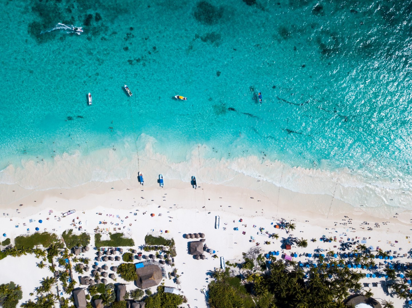 View from above of Tulum beach